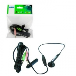 4world Headphones with microphone mini for