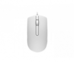 Dell Wired USB optical white mouse