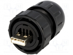 Switchcraft DCC-USBAB-150 / Plug; USB A; Data-Con-X; for cable; straight;, DCC-USBAB-150